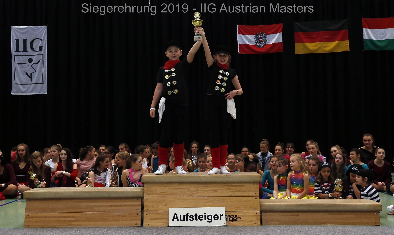 Siegerehrung - IIG Korneuburg 2019 - Ameli und Leon Showduo